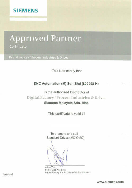 SIEMENS AUTHORISED DISTRIBUTOR